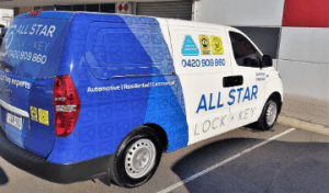 all star lock and key work van